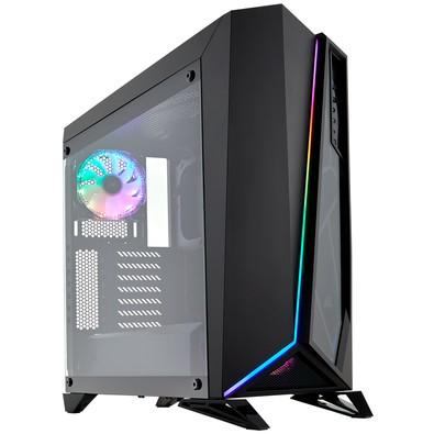 Gabinete Gamer Corsair Carbide Series Spec-Omega, Mid-Tower, RGB, Vidro Temperado, Preto - CC-9011140-WW