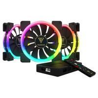 Kit Cooler Fan Gamdias Dual Ring com 3 Unidades, RGB, 14cm - AEOLUS M1-1403R