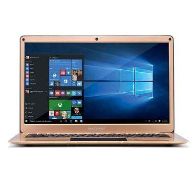 Notebook Multilaser Intel Celeron N3350, 4GB, 64GB, Windows 10, 13.3´, Dourado - PC223
