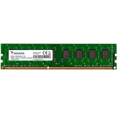 Memória Adata 8GB, 1600MHz, DDR3, CL11 -  AD3U1600W8G11-S