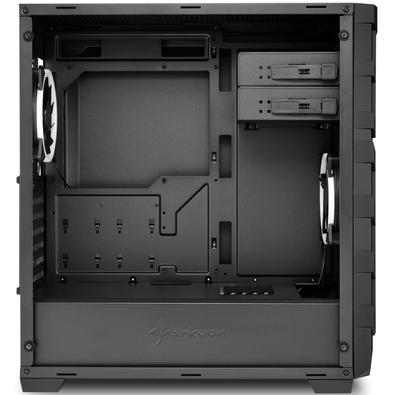 Gabinete Gamer Sharkoon Skiller, Mid Tower, RGB, 2 Coolers, Lateral em Vidro - SGC1