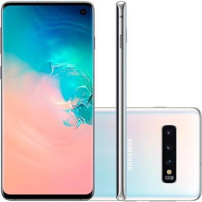 Smartphone Samsung Galaxy S10, 128GB, 16MP, Tela 6.1´, Branco - SM-G973F/1DL