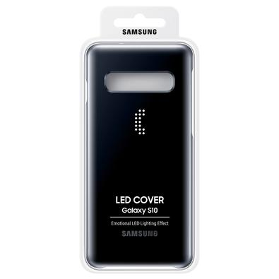 Capa Protetora Samsung LED Back para Galaxy S10, Preta - EF-KG973CBEG