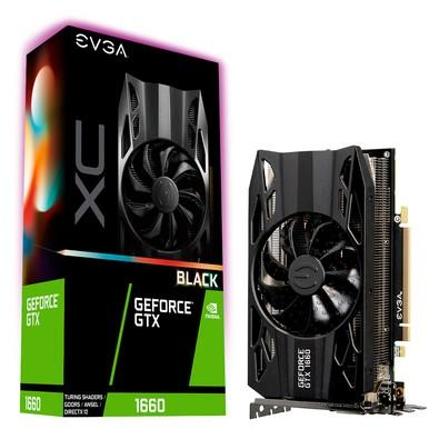 Placa de Vídeo EVGA NVIDIA GeForce GTX 1660 XC Black Gaming 6GB, GDDR5 - 06G-P4-1161-KR