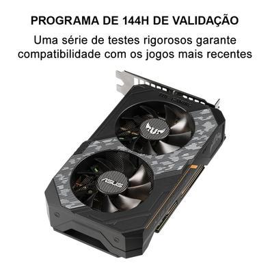 Placa de Vídeo Asus TUF NVIDIA GeForce RTX 2060, 14.0 Gbps, 6GB, GDDR6, Turing, Shadowplay, Ray Tracing - TUF-RTX2060-O6G-GAMING
