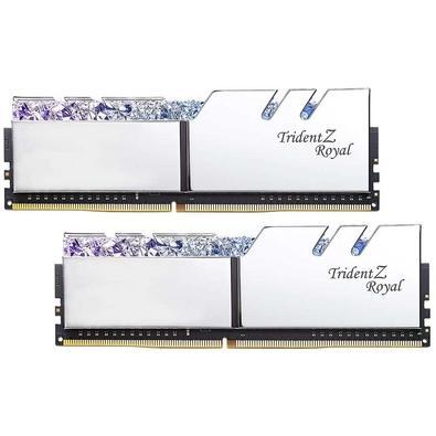 Memória G.Skill Trident Z Royal, 16GB (2x8GB), 3000Hz, DDR4, C16 - F4-3000C16D-16GTRS