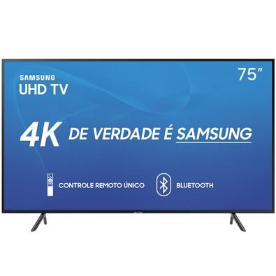 Smart TV LED 75´ UHD 4K Samsung, 3 HDMI, 2 USB, Bluetooth, Wi-Fi, HDR - UN75RU7100GXZD