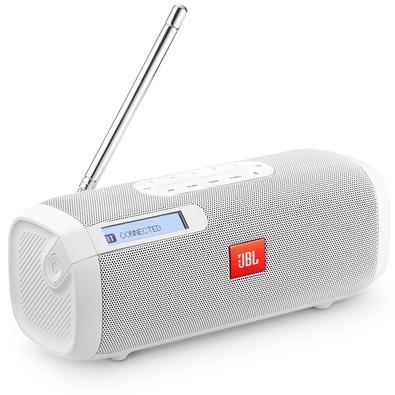 Caixa de Som Portátil JBL Turner FM, Bluetooth, 5W, Branca