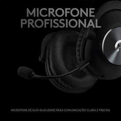 Headset Gamer Logitech G PRO com Design Confortável e Durável, Conexão 3.5mm e Drivers PRO-G 50mm, Preto - 981-000811