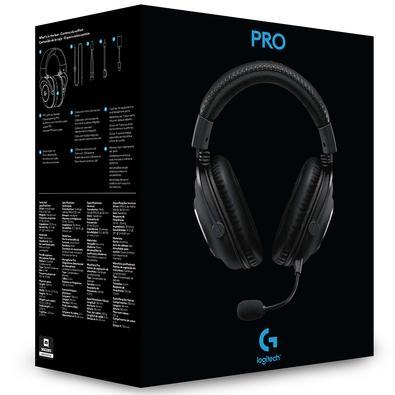 Headset Gamer Logitech G PRO, Stereo, Drivers Pro-G de 50 mm - 981-000811