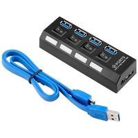 HUB MD9 USB 4 Portas 3.0, com Interruptor Energia + Cabo - 7873