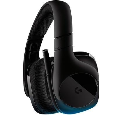 Kit Gamer Logitech G - Mouse G305 Sem Fio Hero 12000DPI + Headset G533 Sem Fio, Som Surround 7.1, Drivers Pro-G