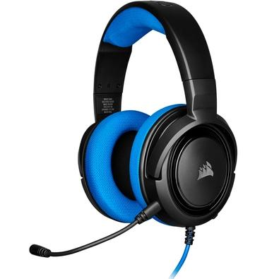 Headset Gamer Corsair HS35 Stereo, Drivers 50mm, Azul - CA-9011196-NA