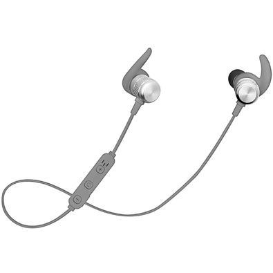 Fone de Ouvido Bluetooth Intra-Auricular Geonav Aermove, Com Microfone, Recarregável, Prata - AER01G