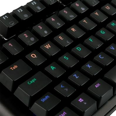 Teclado Mecânico Gamer Dazz Eclipse, LED, Switch Gateron Blue, ABNT2 - 625313