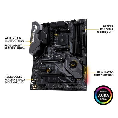 Placa-Mãe Asus TUF Gaming X570-Plus (Wi-Fi), AMD AM4, ATX, DDR4