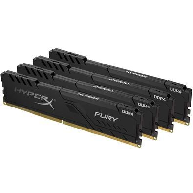 Memória HyperX Fury, 32GB (4x8GB), 2400MHz, DDR4, CL15, Preto - HX424C15FB3K4/32