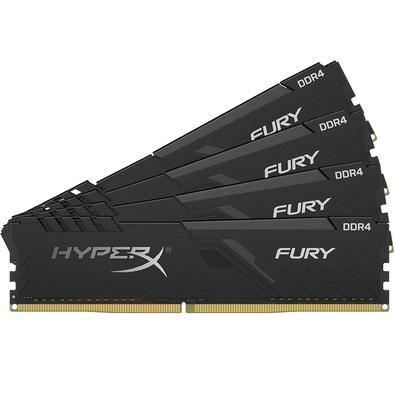 Memória Ram Fury 32gb Kit(4x8gb) Ddr4 2400mhz Hx424c15fb3k4/32 Hyperx