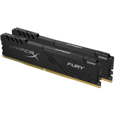 Memória HyperX Fury, 32GB (2x16GB), 2666MHz, DDR4, CL16, Preto - HX426C16FB3K2/32