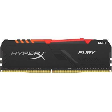 Memória HyperX Fury RGB, 8GB, 3000MHz, DDR4, CL15, Preto - HX430C15FB3A/8