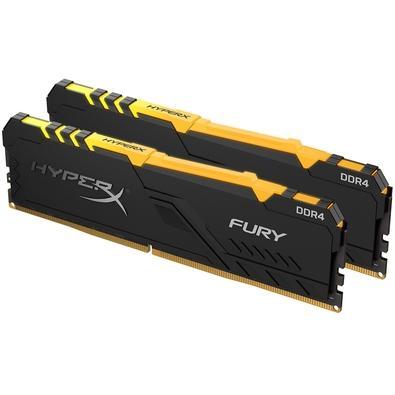 Memória HyperX Fury RGB, 32GB (2x16GB), 3200MHz, DDR4, CL16, Preto - HX432C16FB3AK2/32