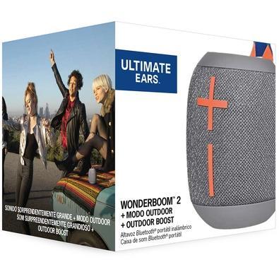 Caixa de Som Bluetooth Ultimate Ears WONDERBOOM 2 Portátil e À Prova D´Água - Até 13 horas de Bateria - Cinza