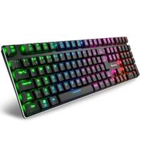 Teclado Mecânico Gamer Sharkoon PureWriter RGB, Switch Kailh Blue, ABNT2