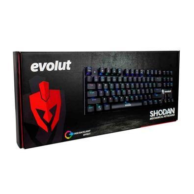 Teclado Mecânico Gamer Evolut Shodan, RGB, Switch Outemu Red, US - EG-203RG