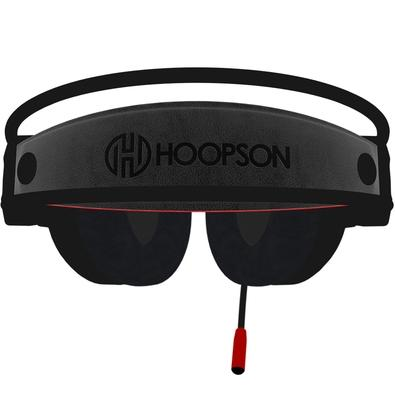 Headset Gamer Hoopson Bruiser, LED, Drivers 40mm, Preto/Vermelho - DG-28 R