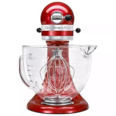 Batedeira Planetária KitchenAid Stand Mixer, Bowl de Vidro, 4.8L, 10 Velocidades, Candy Apple, 110V - KED33A3ANA