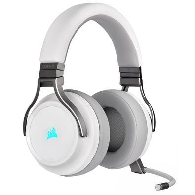 Headset Gamer Corsair Virtuoso Premium Wireless, Surround 7.1. Drivers 50mm, Branco - CA-9011186-NA