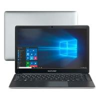 Notebook Multilaser Legacy Book, Intel Celeron, 4GB, HD 32GB, SSD 120GB, Windows 10, 14.1´, Prata/Preto - PC237