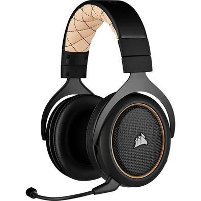 Headset Gamer Corsair HS70 PRO Wireless, 7.1 Som Surround, Drivers 50mm, Preto/Creme - CA-9011210-NA