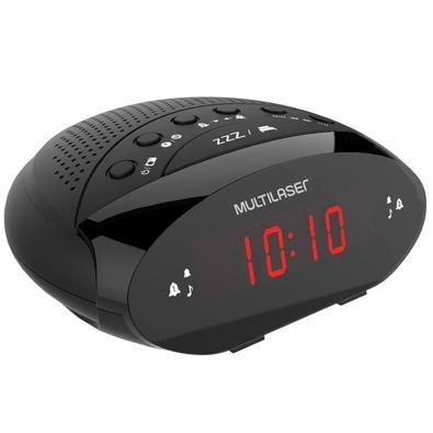 Rádio Relógio Multilaser, FM, 3W RMS, Bivolt - SP352