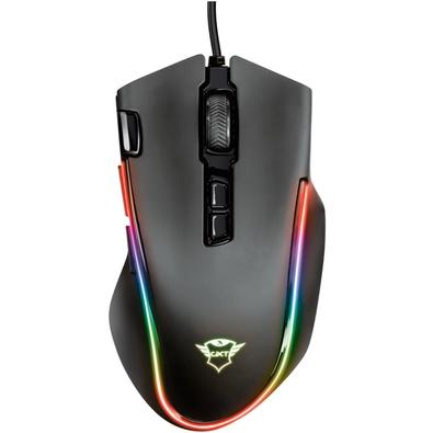 Mouse Gamer Trust GTX 188 Laban, RGB, 8 Botões, 15000DPI - 21789