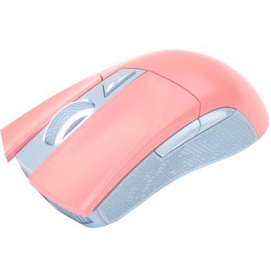 Mouse Gamer Asus ROG Gladius II Origin PNK LTD, RGB, 12000DPI, Rosa - 90MP00U3-B0UA00