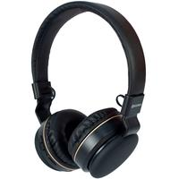 Headphone Bluetooth Hoopson, com Microfone, Preto e Dourado - F-048G