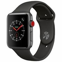 Apple Watch Series 3, GPS + Cellular, 42mm, Cinza Espacial, Pulseira Preta - MTH22BZ/A