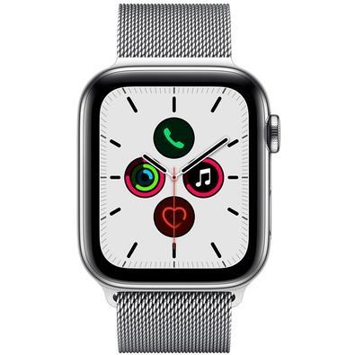Apple Watch Series 5, GPS + Cellular, 44mm, Prata, Pulseira Prata - MWWG2BZ/A