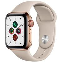 Apple Watch Series 5, GPS, 40mm, Dourado, Pulseira Cinza - MWX62BZ/A