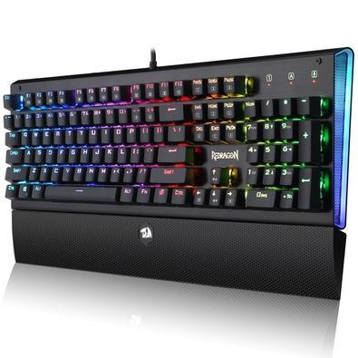 Teclado Mecânico Gamer Redragon Dark Aryaman K569, RGB, Switch Outemu Blue, ABNT2 - K569