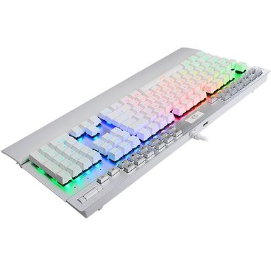 Teclado Mecânico Gamer Redragon Yama K550, RGB, Switch Outemu Purple, ANSI, Branco - K550W-RGB-1