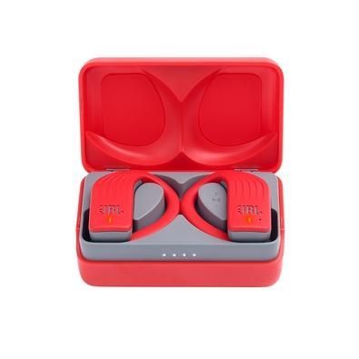 Fone de Ouvido Bluetooth Esportivo JBL Endurance Peak, com Microfone, Recarregável, À Prova d´Água, Vermelho - JBLENDURPEAKRED