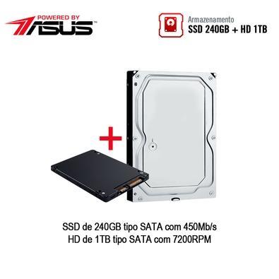 Computador Gamer BRX  POWERED BY ASUS Intel Core i3-9100F, 8GB, HD 1TB, SSD 240GB, Asus NVIDIA GeForce GTX 1660 6GB, Windows 10 Pro - PCGBRXI39100240GB1000GB