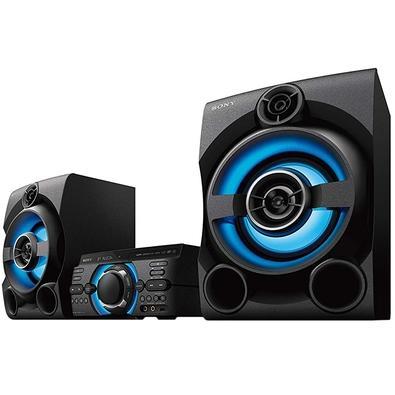 Mini System Sony MHC-M60D, DVD Integrado, HDMI ARC, CD, USB, Bluetooth, FM, Karaokê, 2 Caixas de Saída, Bivolt, Preto - MHC 60D