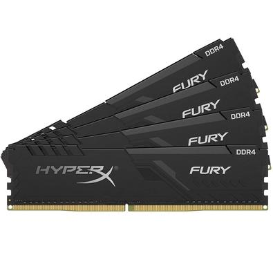 Memória HyperX Fury, 128GB (4x32GB), 2400MHz, DDR4, CL15, Preto - HX424C15FB3K4/128