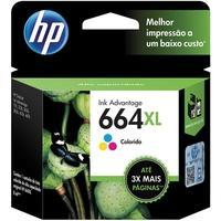 Cartucho de Tinta HP 664XL Tricolor - F6V30AB