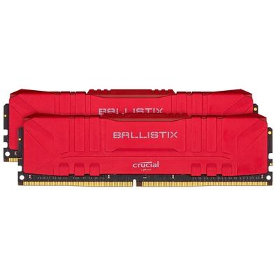 Memória Crucial Ballistix Sport LT, 16GB (2X8), 2666MHz, DDR4, CL16, RGB, Vermelha - BL2K8G26C16U4R