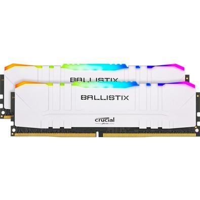 Memória Crucial Ballistix Sport LT, RGB, 16GB (2X8), 3200MHz, DDR4, CL16, Branca- BL2K8G32C16U4WL
