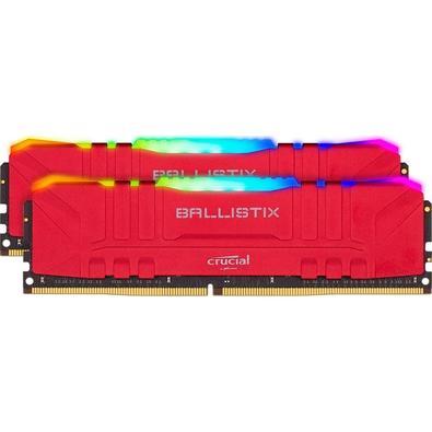 Memória Crucial Ballistix Sport LT, RGB, 64GB (2x32), 3200MHz, DDR4, CL16, Vermelha - BL2K32G32C16U4RL